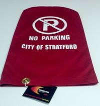 Parking meter covers for the City of Stratford